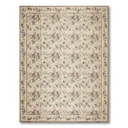 9and039 X12and039 Asmara Hand Woven Wool French Needlepoint Oriental Area Rug 9x12 Beige