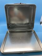 Starbucks Coffee Gear World Blend Stamps Metal Tin Lunch Box Handle, Clean