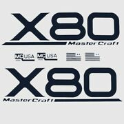 Mastercraft Boat Graphic Decal 2323107   X-80 Navy Blue Set Of 6
