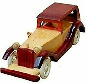 Wooden Car Toy Cars Vintage Handmade Wood Handcrafted Lot Collectible Train Set