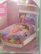 Dora The Explorer Hola 4pc Toddler Bedding Set New With Wall Décor Included