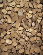"""1909-1958 Lot Of 5,000 Lincoln Wheat Pennies - """"100 Rolls"""" Of Us Copper Coins"""