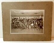 1910s Roller Skate Party Party, Original Cabinet Photo, Gas Lamps, Old, Antique