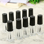 50x 5ml Sample Empty Square Glass Nail Polish Bottles Clear Travel Containers