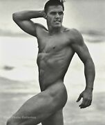 1990s Vintage Bruce Weber Beach Male Nude Muscle Body Photo Engraving Art 16x20