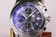 Tag Heuer Link Chrono 150th Limited Cjf211k Automatic Black Shell Round Mens 186
