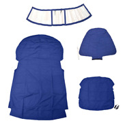 Chaparral Boat Curtain Cover 10.03461 | 307 Ssx Blue Clear 4 Pc Kit
