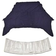Chaparral Boat Aft Curtain Kit | 307 Ht Ameritex Navy Blue 3 Pc