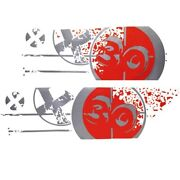 Mastercraft Boat Bulls Eye Decal 750211 | X-30 Viper Red Set Of 2