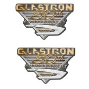 Glastron Boat Raised Decals 0572885   50th Anniversary Gold Pair