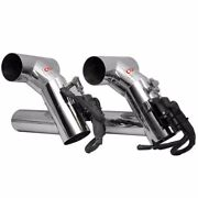 Powerquest Corsa Polished Stainless Steel Exhaust Diverter Pair
