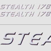 Misty Harbor Stealth 178 Violet/blk/wht 13 1/4 X 1 1/4 Inch Boat Decals Pair