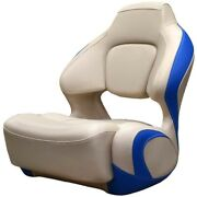 Chaparral Boat Helm Seat 31.00976 | H2o Bolster Beige Electric Blue