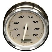 Faria Boat 7000 Rpm Tachometer Thc048c | Hour Meter Silver Outboard