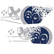 Mastercraft Boat Graphic Decal 750292 | X80 Blue Navy Set Of 2