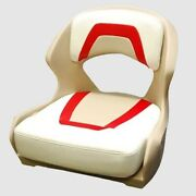 Glastron Boat Bucket Helm Seat 08850519   170 / 175 Ss Off White Red
