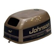Johnson Brp / Omc 9.9 Four Stroke High Thrust Brown Boat Motor Top Cowling