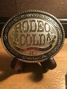 Montana Silversmiths Rodeo Cold Silver Plate Belt Buckle
