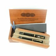 Parker Duofold Centennial 100th Anniversary Fountain And Ballpoint Pen 14k Unused