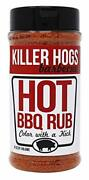 Killer Hogs Hot Bbq Rub Spicy Bbq And Grill Seasoning For Beef steak burgers 16 Oz