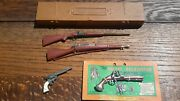 Vintage 1950s Marx Miniatures Weapons Lot Revolutionary War Western Toys