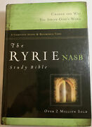 1995 Nasb Ryrie Study Bible Hardcover Indexed Red Letter Clean