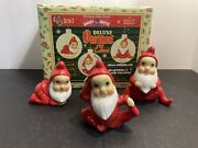 Christopher Radko Shiny Brite Deluxe Vintage Style Elves Playful Jolly Winsome