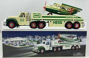 Hess 2002 Toy 18 Wheeler Truck And Airplane Brand W/ Instructions New In Box