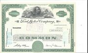 Ford Motor Company.....unissued Common Stock Certificate
