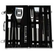 Barbeque Tool Set 22pc Stainless Steel Bbq Cook Grilling Tongs Spatula And More