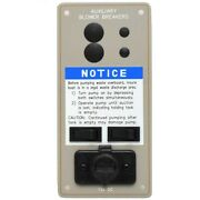Boat Switch Panel | Waste Pump 7 1/4 X 3 1/2 Inch Aluminum Taupe