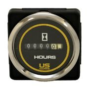 Faria Boat Hour Meter Gauge Mh0079b   Bayliner Us Marine 2 Inch Silver