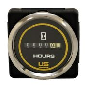 Faria Boat Hour Meter Gauge Mh0079b | Bayliner Us Marine 2 Inch Silver