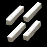 Powerquest White 4 X 3/4 X 7/8 Inch Starboard Boat Molding Brackets Set Of 4