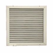 Ivory Aluminum Louvered 13 1/2 X 13 3/8 In Ac Boat Ve