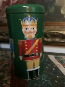 Hudsonand039s Hudsons Bay Canada Nutcracker Bank Tin Canister Toy Turning 3 Sections