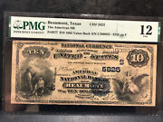 -1881 Us 10 Blue Seal National Beaumont Texas Large Note Fr577-pmg F12
