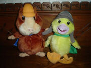 Fisher-price Wonder Pet Linny Hamster And Ming Ming Duck Stuffed Toys Nick Jr.