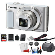 Canon Powershot Sx620 Hs Digital Camera Silver Kit With 64gb Memory Card +