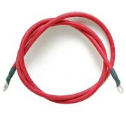 Boat Battery Cable   2 Awg 1/4 Inch Lug 43 Foot Red
