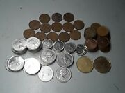 Lot Of Canadian Canada Old Coins George V Cents Commemorative 5 10 25 Cents 9+