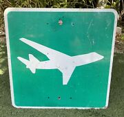 Airport/airplane Authentic Retired Road Sign 24 X 24 Single Sided - Florida