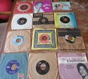 Lot Of 13, 1950-60's, 45 Records Oldies, Bailey, Cooke, Francis, Reese, Elvis
