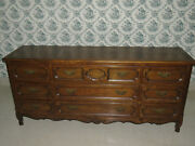 Baker Furniture Cabinet Makers Country French Triple Dresser