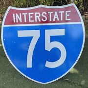 Interstate I-75 Authentic Retired Road Street Sign 30 X 30 - Florida