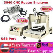 Usb 800w 5axis 3040 Cnc Router Engraver 3d Milling Machine Metal Cutting Machine