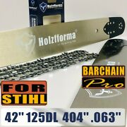 42 Guide Bar Chain Compatible With Stihl 070 090 084 Chainsaw .404 .063 125dl