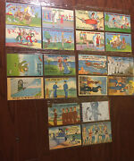 Lot Of 20 Wwii Ww2 Comic Postcards Used And Unused