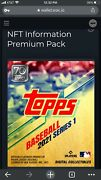 Topps Digital Mlb Nft Premium Pack - Collectible 7840 - Series 1 - Sold Out