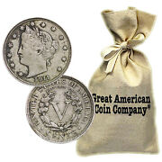 Bag Of 1000 Liberty Nickels Circulated Condition